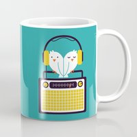 depeche mode Mugs featuring Radio Mode Love by Picomodi
