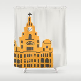 Liver Building Liverpool Shower Curtain