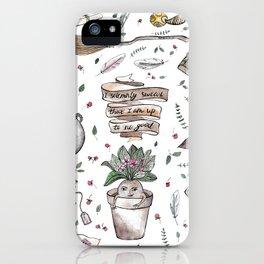 Potter pattern iPhone Case