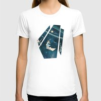 surrealism T-shirts featuring My Favourite Swing Ride by Paula Belle Flores