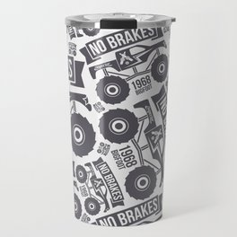Pattern with the image of bigfoot car Travel Mug