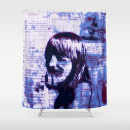 Mitchell Moves Leave Her Hit Blue Shower Curtain