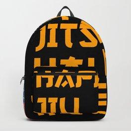 Happy Jiu Jitsu Halloween Flag Backpack