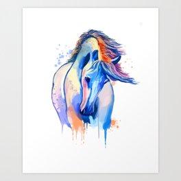 Horse Watercolor, Horse Painting, Horse Portrait, Horse art, Horse illustration Art Print