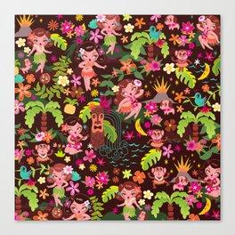 Hula Cuties Pattern Canvas Print