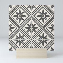 TAZA STAR TILE GREY Mini Art Print