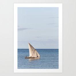 African Sails Art Print