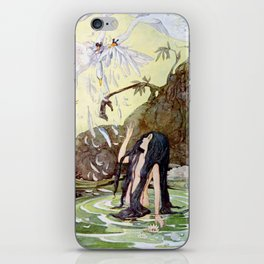 """The Marsh King's Daughter"" Fairy Art by Anne Anderson iPhone Skin"