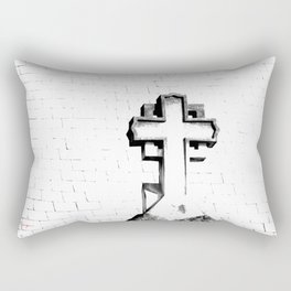 CROSS - Bl & Wh Rectangular Pillow