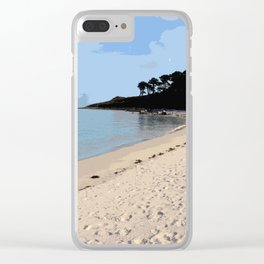 Scilly Isles Paradise Clear iPhone Case
