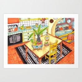 Tacos for dinner Art Print