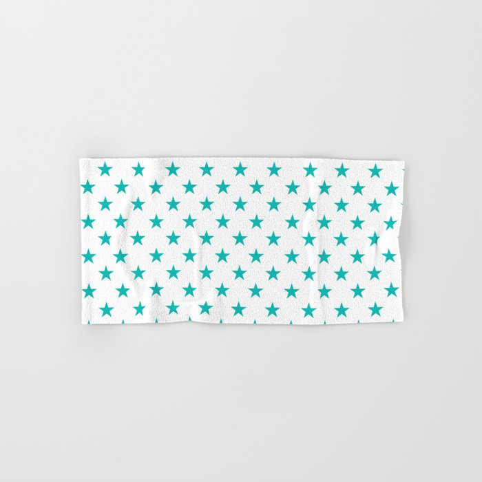 Stars (Tiffany Blue/White) Hand & Bath Towel
