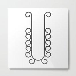 "Letter ""U"" in beautiful design Fashion Modern Style Metal Print"
