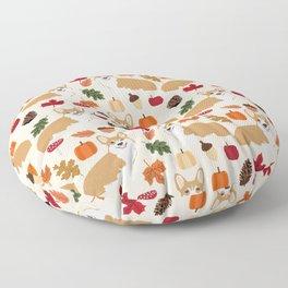 Corgi Autumn Fall woodland pillow phone case cute corgi design corgi dog pattern corgis love Floor Pillow