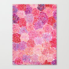 Watercolour Roses Canvas Print