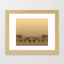 Kitschy Flower Medley Sepia Framed Art Print