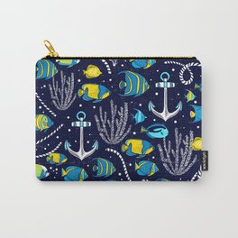 Deep Blue Sea Navy Carry-All Pouch