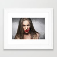 lipstick Framed Art Prints featuring Lipstick by Anna Shellkova