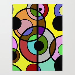 Dark Retro - Geometric, Abstract Pattern Poster