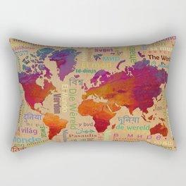 The World Rectangular Pillow