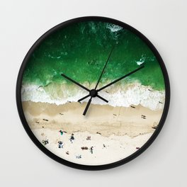 miami beach aerial view Wall Clock