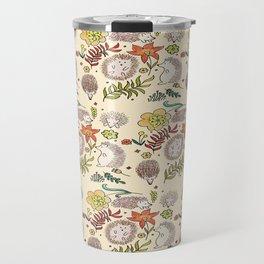 Hedgehog Field in Cream Travel Mug