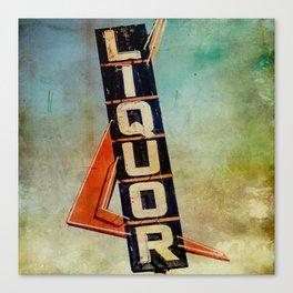 Vintage Liquor Sign Canvas Print