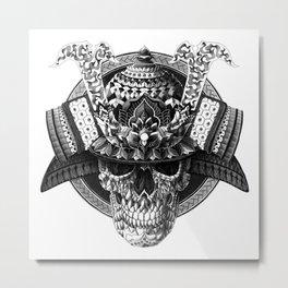 Samurai Skull Metal Print