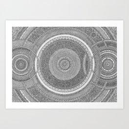 Overlap Mandala Art Print