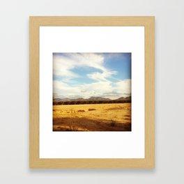 Desert Skyline Framed Art Print