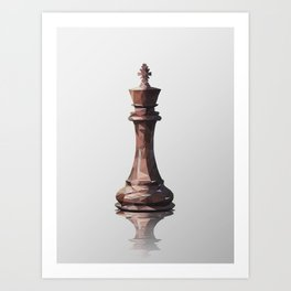 king low poly Art Print
