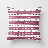 haikyuu Throw Pillows featuring Haikyuu!! Shiratorizawa Bows by InkyThoughts