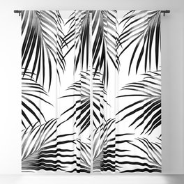 Black Palm Leaves Dream #2 #tropical #decor #art #society6 Blackout Curtain