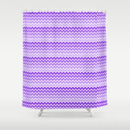 Purple Lavender Lilac Ombre Chevron Shower Curtain