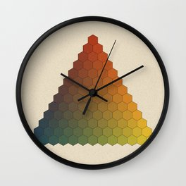 Lichtenberg-Mayer Colour Triangle vintage variation, Remake of Mayers original idea of 12 chambers Wall Clock