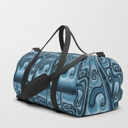 Sea Typography - Sailor Blue Duffle Bag