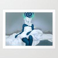 snail Art Prints featuring snail by AnastasiyaCemetery