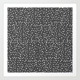 Black & White Stars & Shapes Art Print