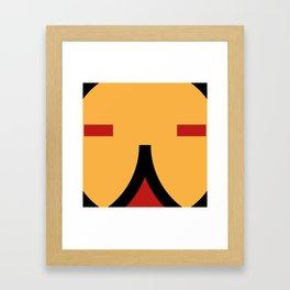 face 9 Framed Art Print