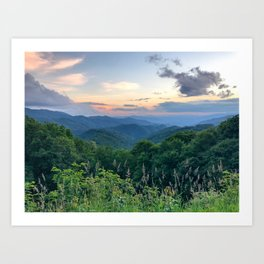 Blue Ridge Parkway 3 Art Print