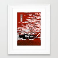 tokyo Framed Art Prints featuring Tokyo by Artworks by PabloZarate Inc.
