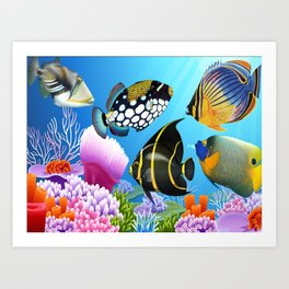 beautiful fish Art Print