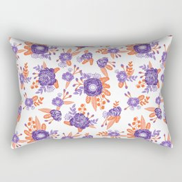 University football fan alumni clemson orange and purple floral flowers gifts Rectangular Pillow