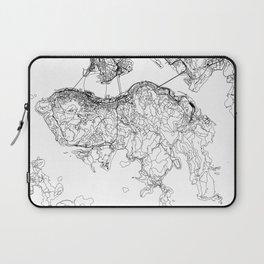 Hong Kong White Map Laptop Sleeve