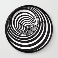 vertigo Wall Clocks featuring Vertigo by General Design Studio