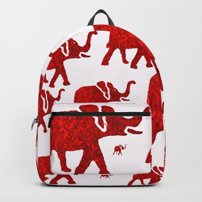 ELEPHANT Red  1 Backpack by saundramyles  e5ce68710edcb