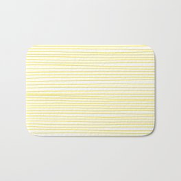 Yellow Lines dancing striped Bath Mat