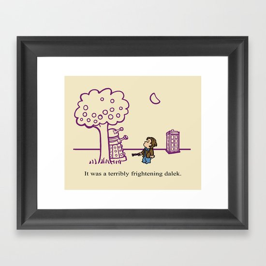 Dr Harold and the Purple Screwdriver Framed Art Print