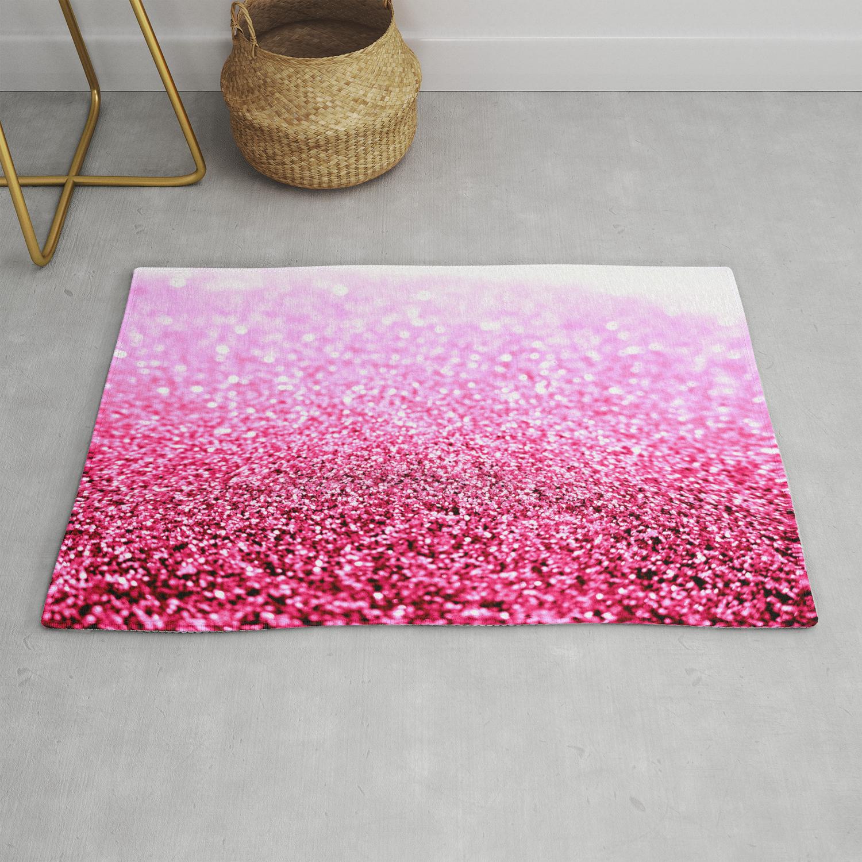 Pink Glitter Sparkle Rug