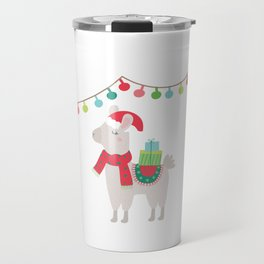 Christmas llamas V Travel Mug